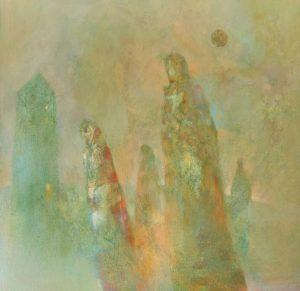 """Afbeelding van het kunstwerk """"Wanderers ( in wording)"""""""
