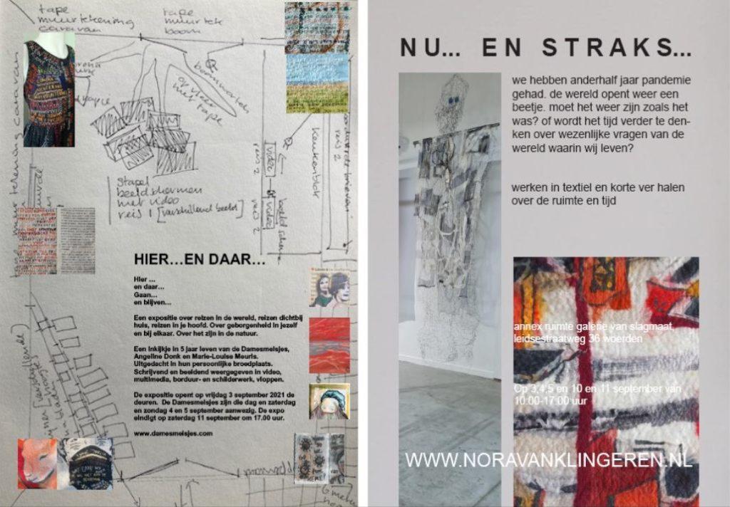 """Afbeelding poster expo """"Hier en Daar"""""""
