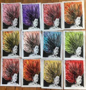 "Afbeelding van het kunstwerk ""12 x Sien met hanekam, werk in uitvoering"""