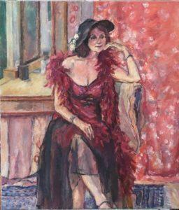 """Afbeelding van het kunstwerk """"Thea in het rood"""""""