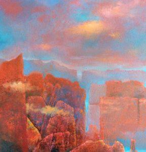 """Afbeelding van het kunstwerk """"Landschap 1"""""""