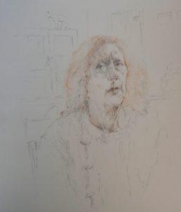"""Afbeelding van het kunstwerk """"portret Vera"""""""