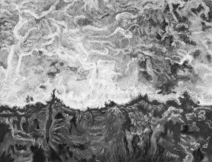 """Afbeelding van het kunstwerk """"Schuimend water"""""""