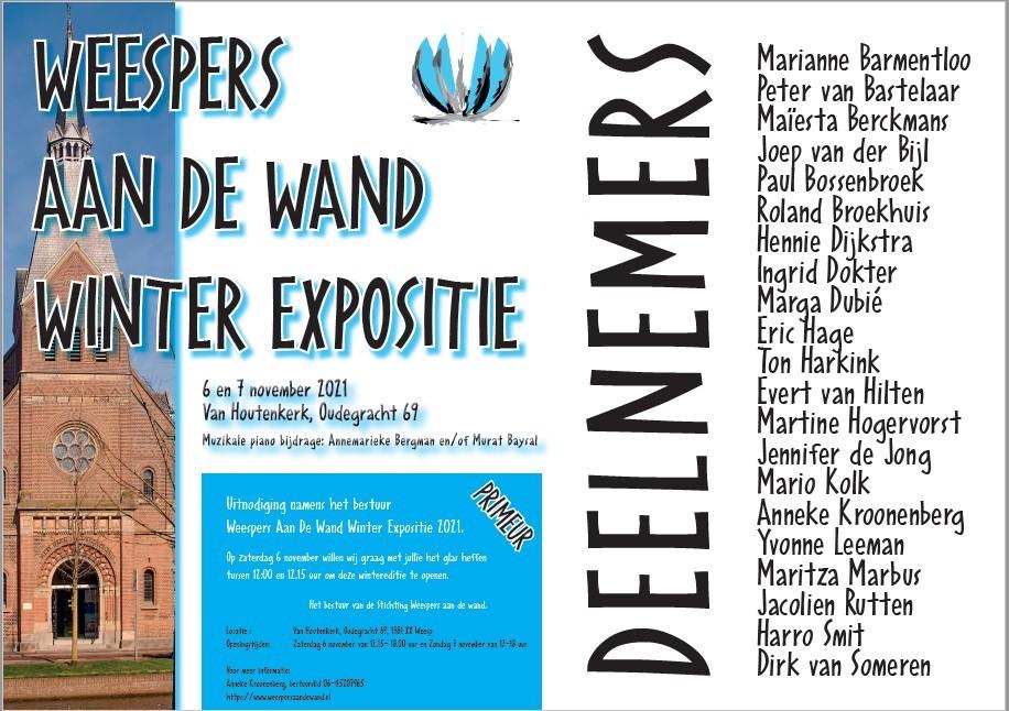 """Afbeelding poster expo """"Weespers aan de Wand"""""""